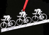 Drafting Cyclists Ornament