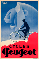Cycles Peugeot French Bicycle Poster Print by Roger Perot