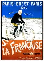 Paris-Brest-Paris Vintage French Bicycle Poster by Charles Brun