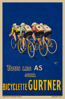 Bicyclette Gurtner Vintage French Bicycle Poster by MICH
