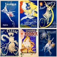 Ladies in Blue vintage poster set