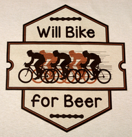 Will Bike for Beer - Sand T Color