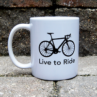 Live to Ride - Ride to Live BicycleGifts Coffee Mug - Right Side