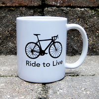 Live to Ride - Ride to Live BicycleGifts Coffee Mug - Left Side