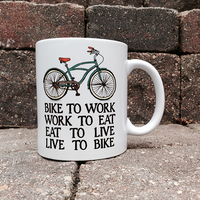Bikers Creed BicycleGifts Coffee Mug - Right Side