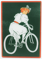 Lady in White Glass Cutting Board