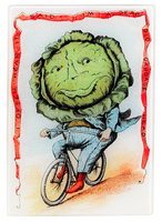 Cabbage Rider Vegetable Glass Cutting Board