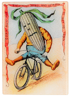Corn Rider Vegetable Glass Cutting Board/Cheese Tray