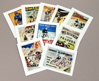 Racing Poster Note Cards by BicycleGifts