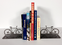 Hammered Bronze Finish Bicycle Book Ends