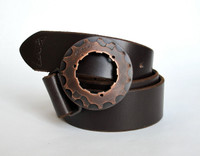 Copper Cog Belt Buckle - Buckle only