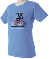 Bella Bicycletta by Valenti Cycling Art - Periwinkle Color