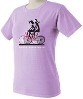 Bella Bicycletta by Valenti Cycling Art - Lavender Color