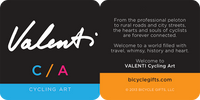 Valenti Cycling Art at BicycleGifts