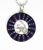 Bicycle Wheel Pendent - Purple