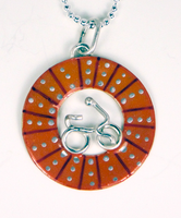 Bicycle Wheel Pendent - Orange