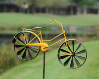 Yellow Bicycle Garden Ornament
