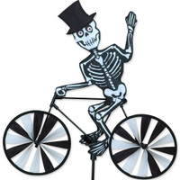 Halloween Skeleton Bicycle Yard Spinner