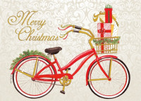 Christmas Red Bike Card Exterior
