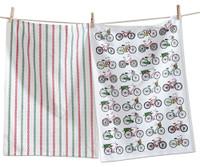 Holiday Bikes Dishtowel Set of Two