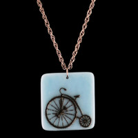 High Wheel Fused Glass Pendant