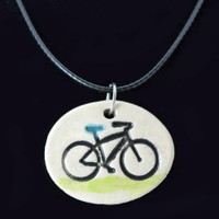Bicycle Ride Clay Necklace