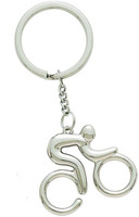 Contemporary Cyclist Key Chain