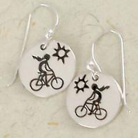 Female Rider Earrings