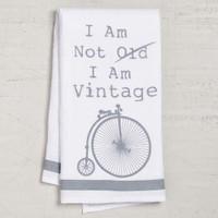 Not Old Vintage Bike Dishtowel