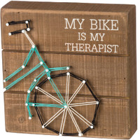 My Bike is my Therapist Box Sign