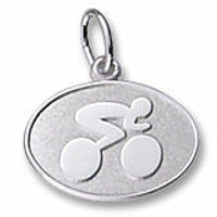 Engravable Contemporary Cyclist Charm