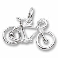 Sterling silver road bike charm