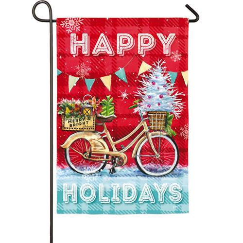 Christmas Party Bike Garden Flag