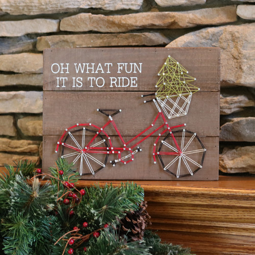 Fun to Ride Holiday String Art