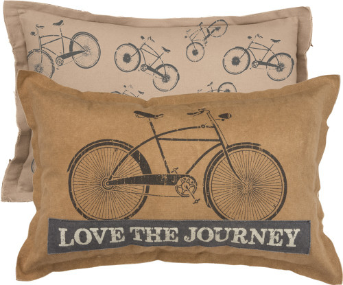 Love the Journey Bicycle Pillow