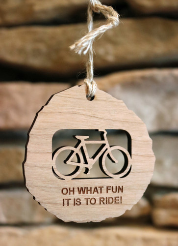 Fun to Ride Wood Bicycle Ornament