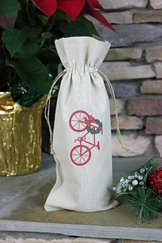 Christmas Bike Wine Bag