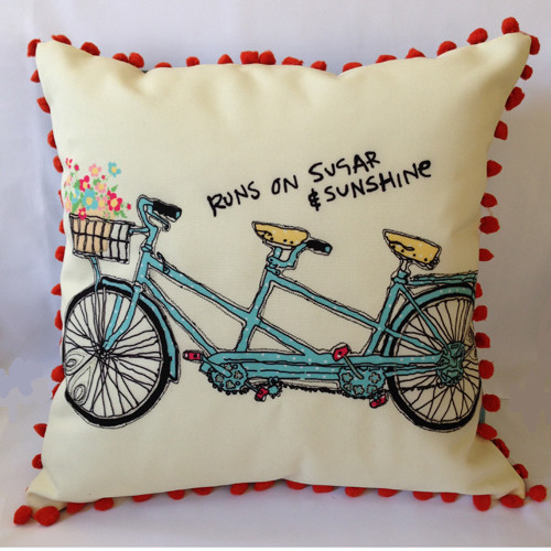 Runs on Sugar & Sunshine Pillow