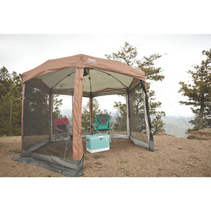 Coleman Shelter 12 x 10 Back Home Screened Canopy Sun Shelter w/Instant Setup