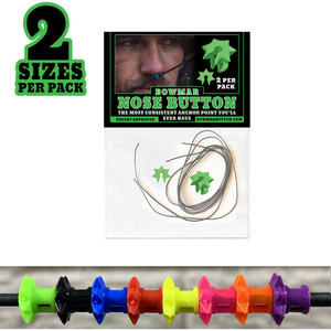 Bowmar Recurve Nose Button Green 2 Pc. Small/large