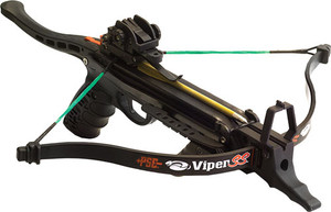 Pse Hand Held Crossbow Viper - Ss 215fps 50# Draw Black