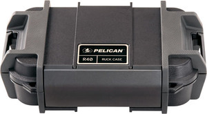 """Pelican Ruck Case Large R40 - W/divider Blk Id 7.6""""x4.7""""x1.9"""