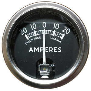 "Faria 2"" Ammeter Black w/Stainless Steel Bezel (20-0-20 Amps)"