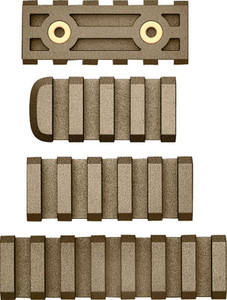 Ab Arms Rail Combo Pack Ltf - 7/5/4 Slot Rails Fde