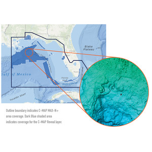 C-MAP Reveal - US - Port St. Lucie to New Orleans St. Lucie Inlet FL to New Orleans LA