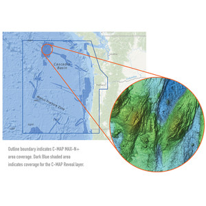 C-MAP Reveal - US Pacific - South Oregon to North WA to Cape Blanco OR to Cape Flattery WA