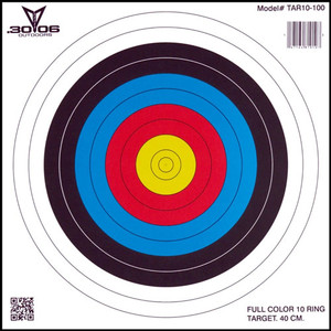 """30-06 Outdoors Paper Target - Archery 10-ring 17""""x17"""" 100ct"""