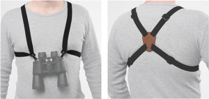 Bulldog Binocular Harness W/ - Leather Back Black