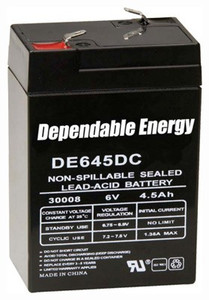 American Hunter Battery - Rechargeable 6v 4.5amp F-tab