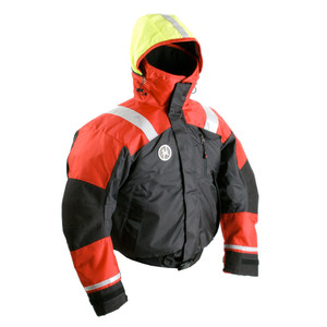 First Watch AB-1100 Flotation Bomber Jacket - Red/Black - Large